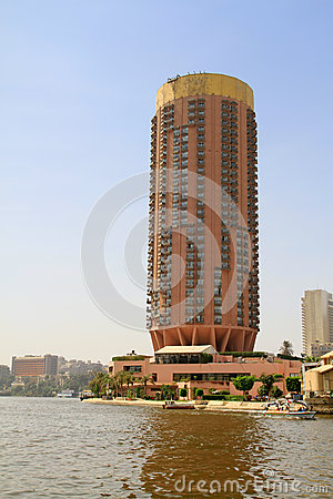 Buildings at Nile river in Cairo, Egypt