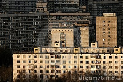 Buildings of residential district in Moscow