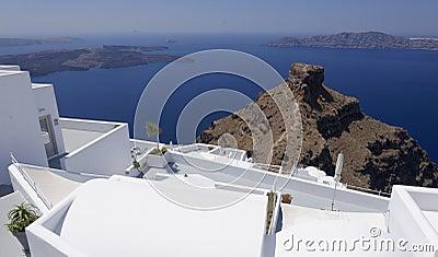 Buildings on Santorini island