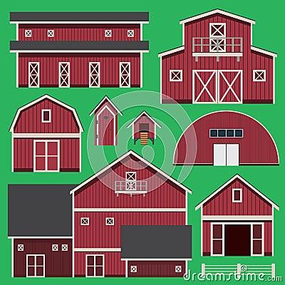 Buildings set with farm