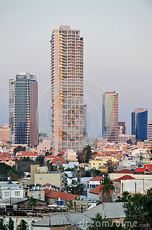 Buildings in Tel Aviv Editorial Image