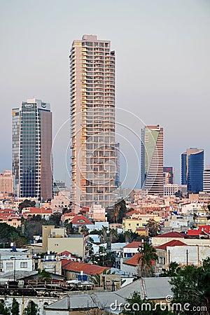 Buildings in Tel Aviv Editorial Image