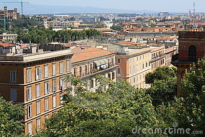 Buildings in Trastevere (Rome, Italy)