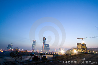 Buildings Under Construction Royalty Free Stock Photography - Image: 2704047