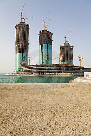 Buildings Under Construction, Manama, Bahrain