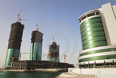Buildings Under Construction, Manama, Bahrain