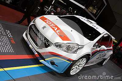 Peugeot 208 T16 Rally Car - Geneva Motor Show 2013 Editorial Image
