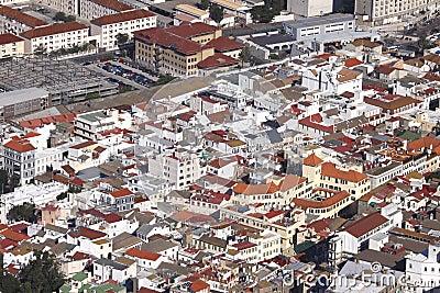 Built up area of Gibraltar