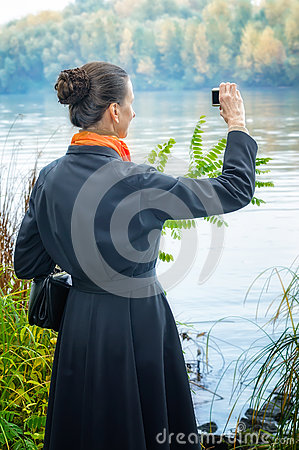 Buisiness Woman with Digital Camera