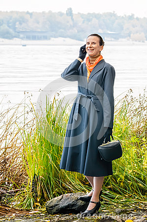 Buisiness Woman with Phone