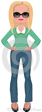 Buisness woman in fashionable clothes
