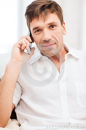 Buisnessman with cell phone