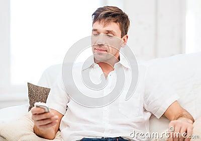 Buisnessman with smartphone