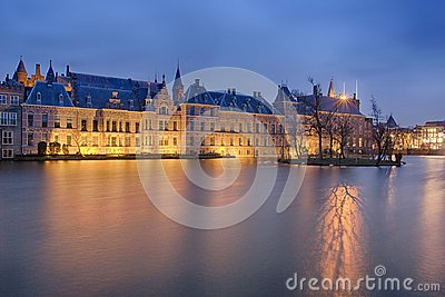 Buitenhof, Houses of the Dutch Parliament in the Hague Stock Photo