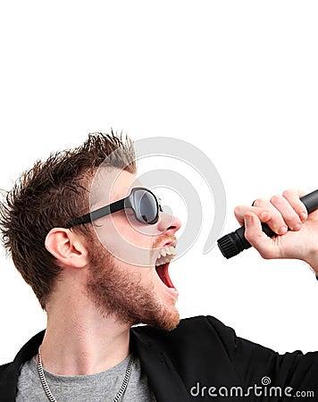 Bujaka krzyczący facet