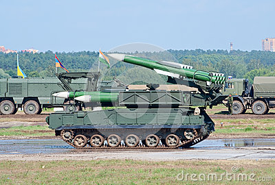 Buk-M missile launcher Editorial Photography