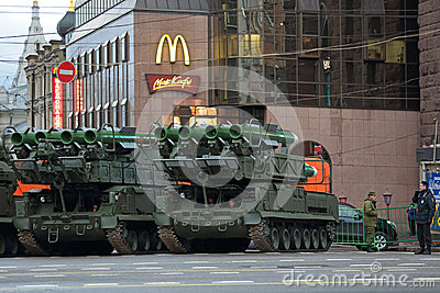Buk missile system Editorial Stock Photo