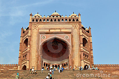 Buland Darwaza in Fatehpur Sikri, India Editorial Image