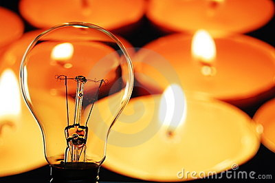 Bulb and candle