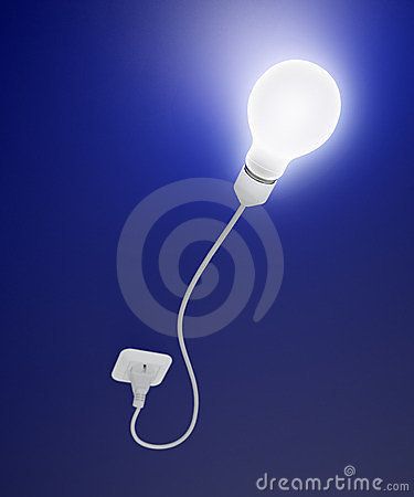 Bulb with a cord