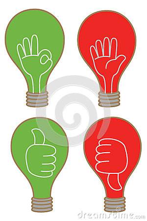 bulb display like unlike stop OK icon