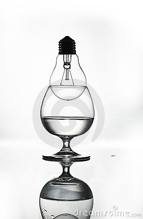 Bulb in glass