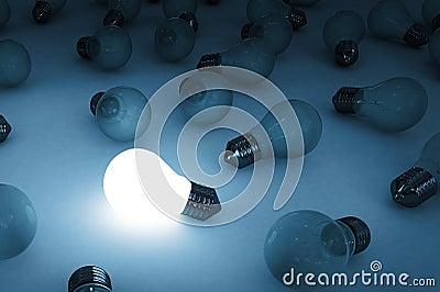 Bulb glowing