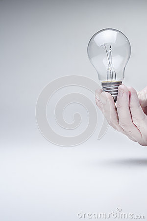 Bulb hold with hand