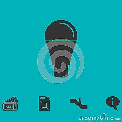 Bulb icon flat Vector Illustration