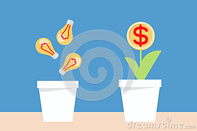 Bulb idea and money planting