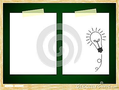 ฺBulb idea note paper