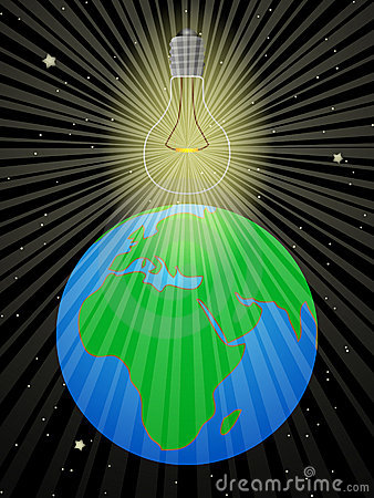Bulb illuminates the Earth