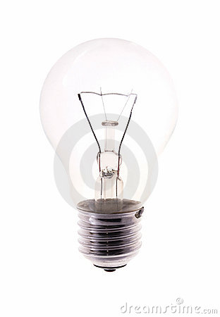 Free Bulb Isolated On White Royalty Free Stock Image - 1900866