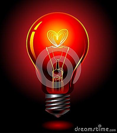 Free Bulb-love Royalty Free Stock Photos - 9952318