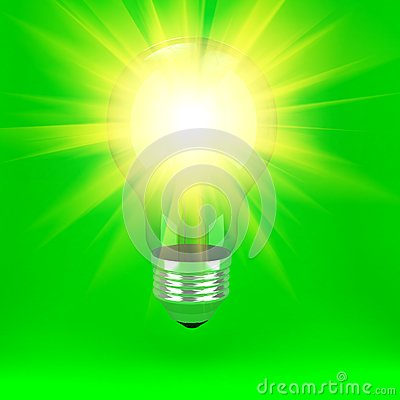 Bulb Over Background Royalty Free Stock Photo - Image: 19384645
