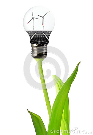 Bulb with of solar panel and wind