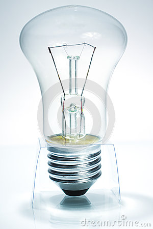 Bulb standing on prop