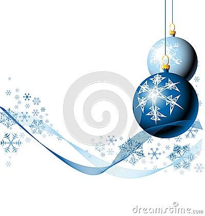 Bulbos do Natal com flocos de neve