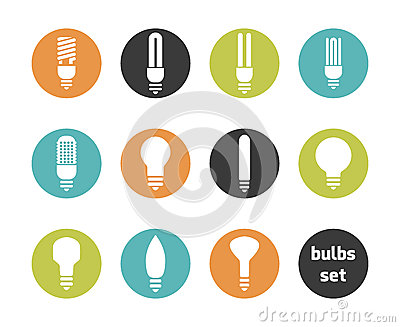 Bulbs icon set