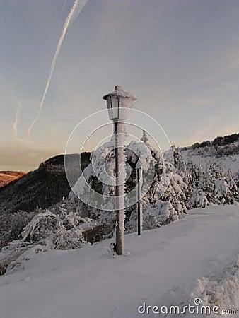 Bulgari lampy śnieg