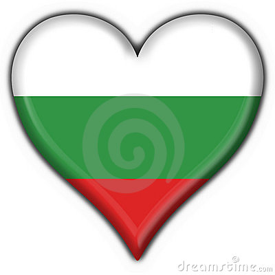 Bulgaria button flag heart shape