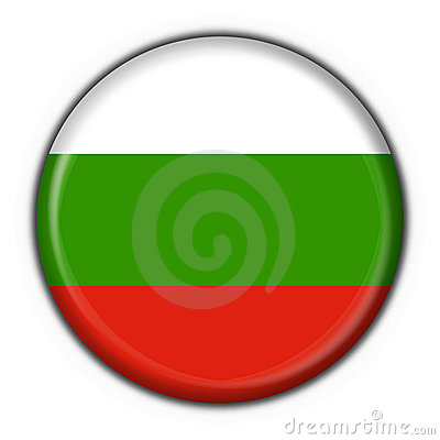 Bulgaria button flag round shape