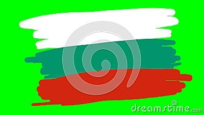 Bulgaria dibuja bandera sobre fondo verde libre illustration