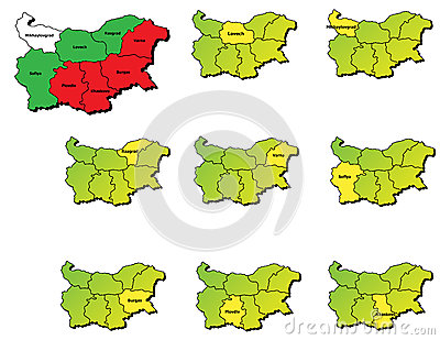 Bulgaria provinces maps