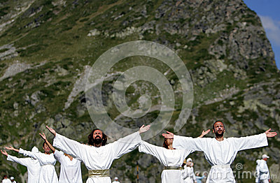Bulgaria Rila Mountain White Brotherhood Editorial Stock Image