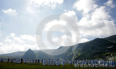 Bulgaria Rila Mountain White Brotherhood Editorial Stock Photo