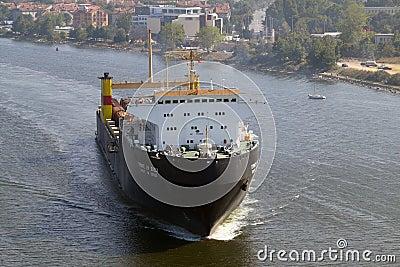Bulgarian cargo ship GEROITE NA ODESSA Editorial Stock Image