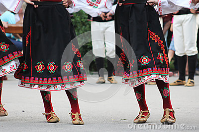 Bulgarian folklore dancers Editorial Image