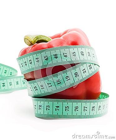 Bulgarian pepper and centimeter