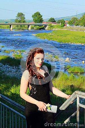 Free Bulgarian Small Town River Prom Girl Stock Photo - 89401380
